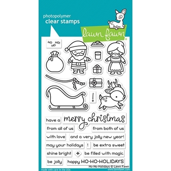 Lawn Fawn HO HO HOLIDAYS Clear Stamps LF2029