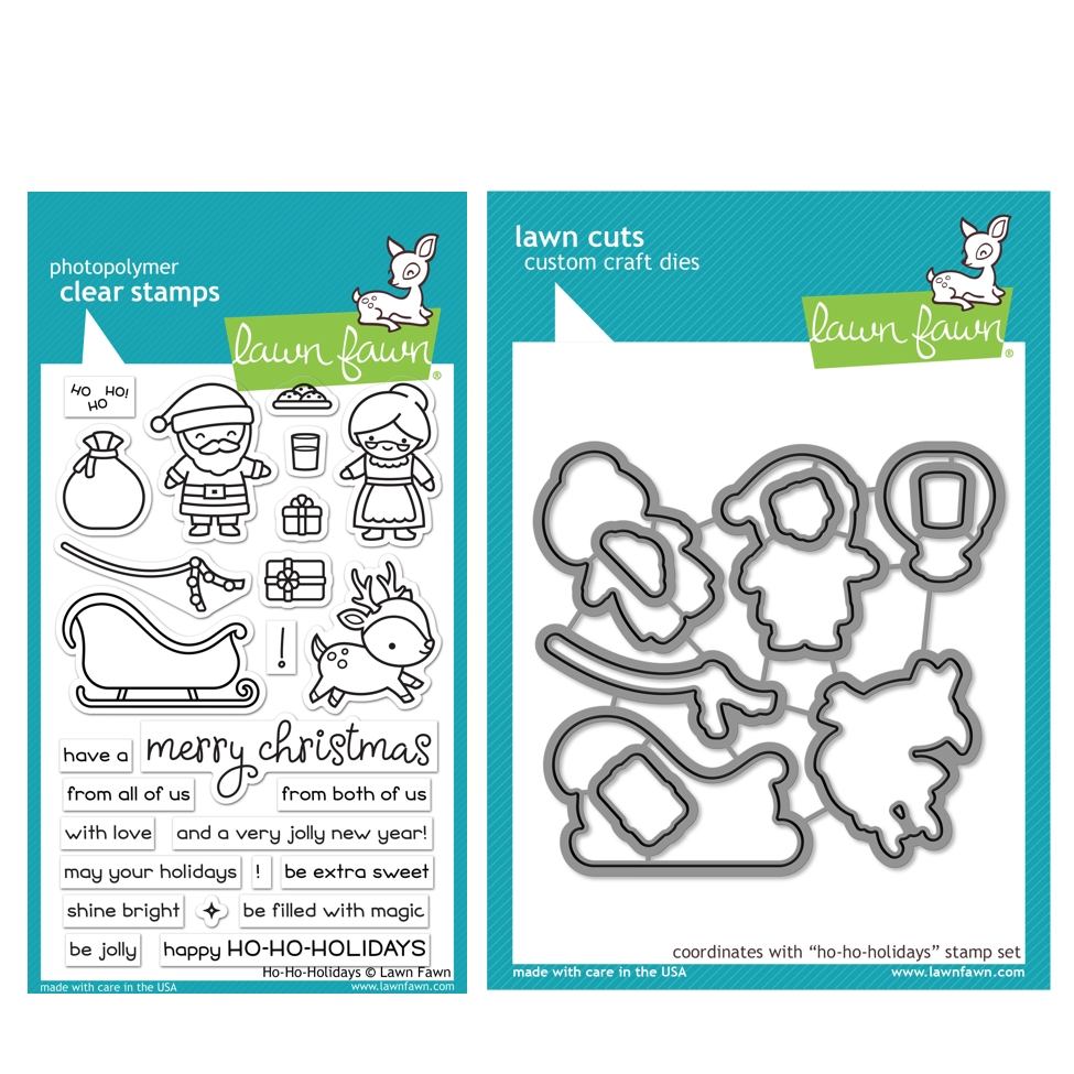 Lawn Fawn SET HO-HO-HOLIDAYS Clear Stamps and Dies HLFHHH zoom image