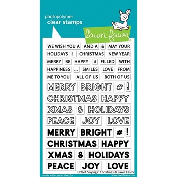 Lawn Fawn OFFSET SAYINGS CHRISTMAS Clear Stamps LF2026