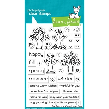 Lawn Fawn TREE BEFORE N AFTERS Clear Stamps LF2018