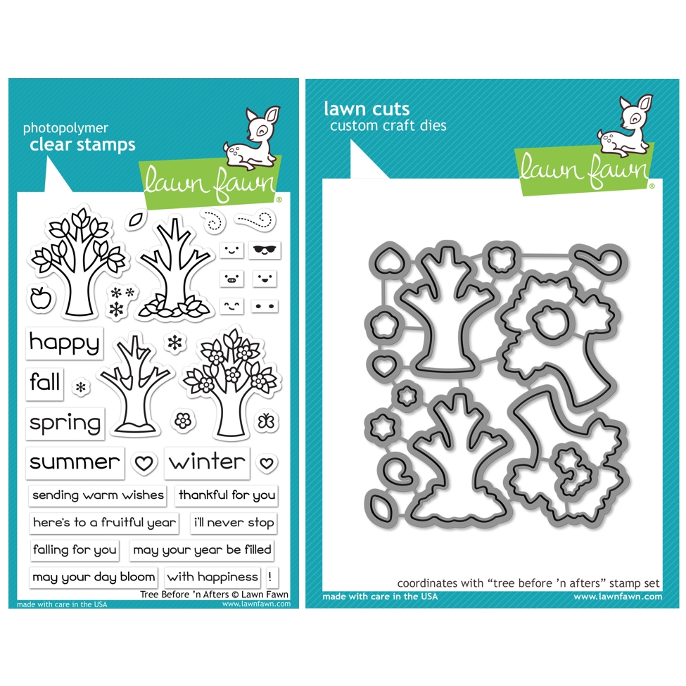Lawn Fawn SET TREE BEFORE 'N AFTERS Clear Stamps and Dies HLFTBA zoom image