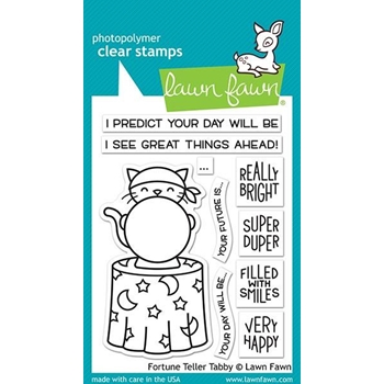 Lawn Fawn FORTUNE TELLER TABBY Clear Stamps LF2016