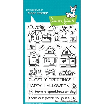 Lawn Fawn SPOOKY VILLAGE Clear Stamps LF2014
