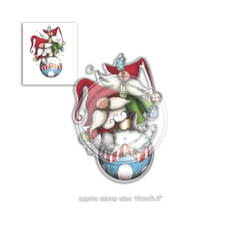 Polkadoodles BAUBLE FUN GNOMES Clear Stamp pd7942