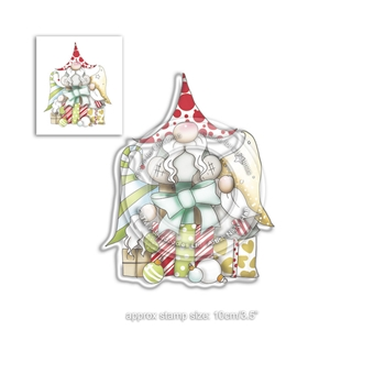 Polkadoodles GIFT OF CHRISTMAS GNOMES Clear Stamp pd7943*
