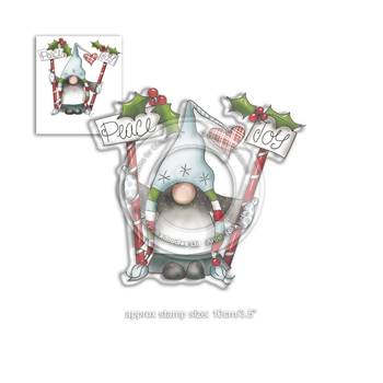 Polkadoodles PEACE AND JOY GNOMES Clear Stamp pd7948