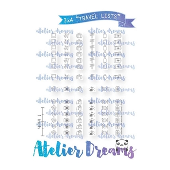 Atelier Dreams TRAVEL LISTS Clear Stamp Set adg054
