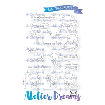 Atelier Dreams PANDALUST Clear Stamp Set ad102*