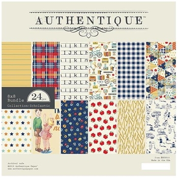 Authentique 8 x 8 SCHOLASTIC Paper Pad bts010