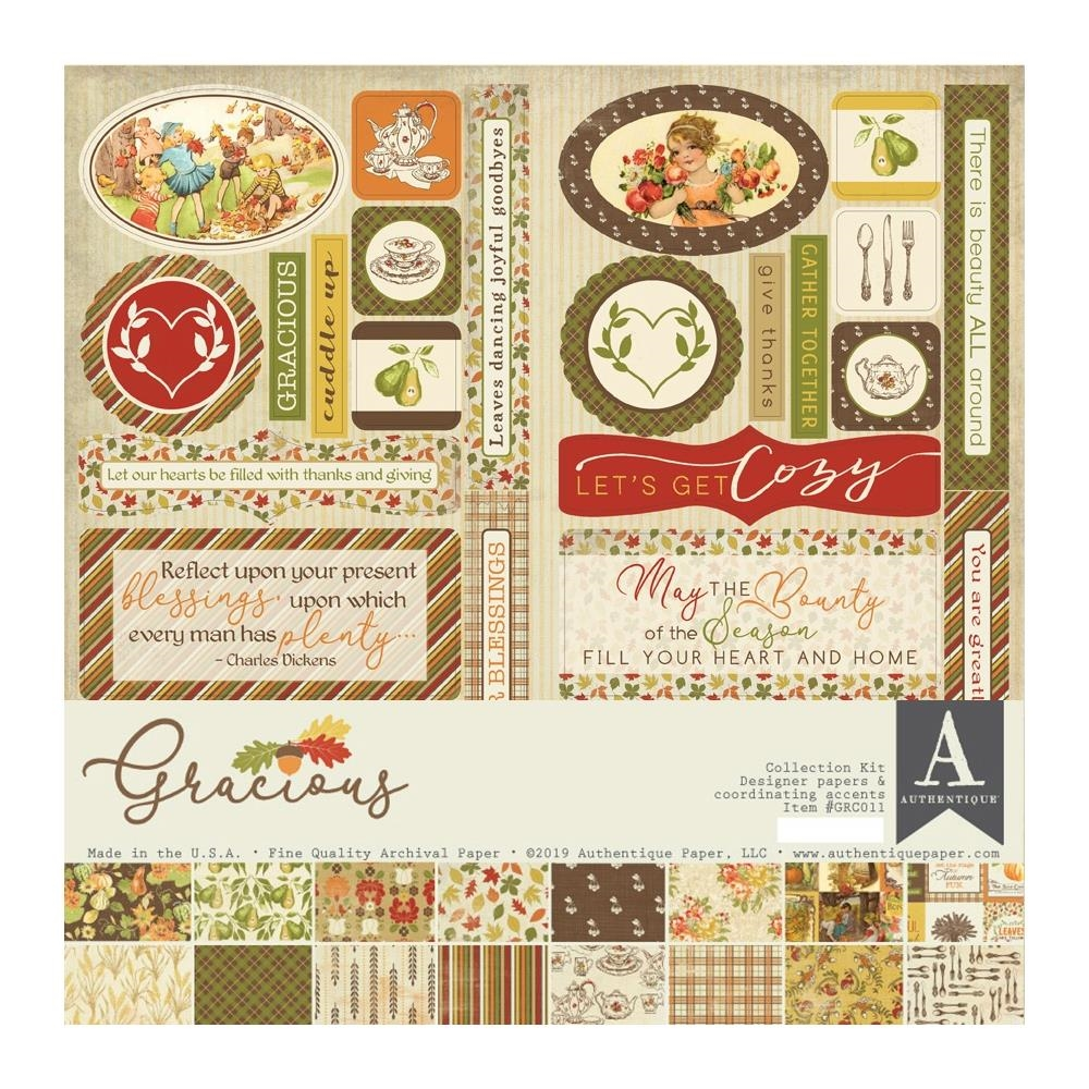 Authentique GRACIOUS 12 x 12 Collection Kit grc011 zoom image