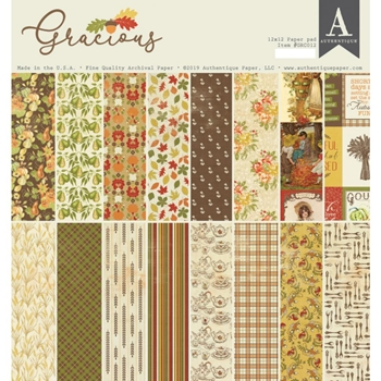 Authentique GRACIOUS 12 x 12 Paper Pad grc012
