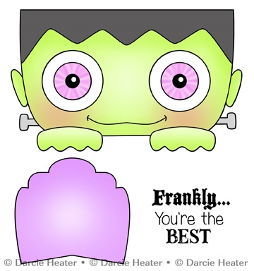 Darcie's FRANKLY THE BEST Clear Stamp Set pol441 Preview Image