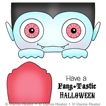Darcie's FANGTASTIC HALLOWEEN Clear Stamp Set pol442