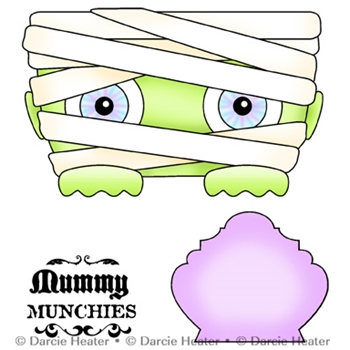 Darcie's MUMMY MUNCHIES Clear Stamp Set pol444
