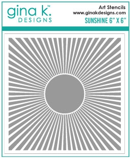Gina K Designs SUNSHINE Stencil 954 Preview Image