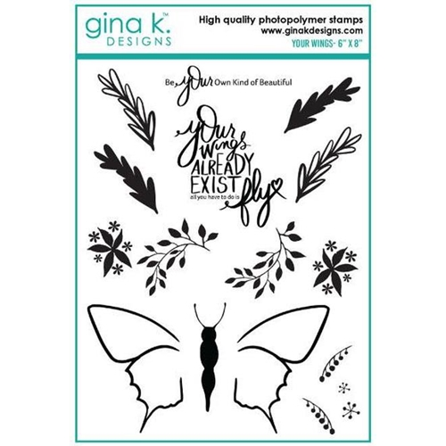 Gina K Designs YOUR WINGS Clear Stamps 886 Preview Image