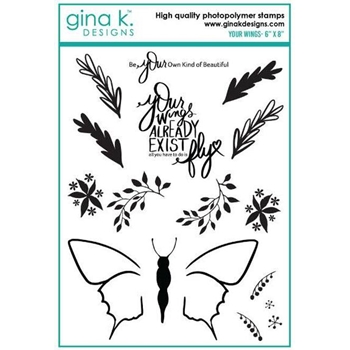 Gina K Designs YOUR WINGS Clear Stamps 886