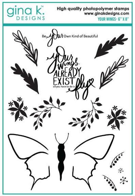 Gina K Designs YOUR WINGS Clear Stamps 886 zoom image