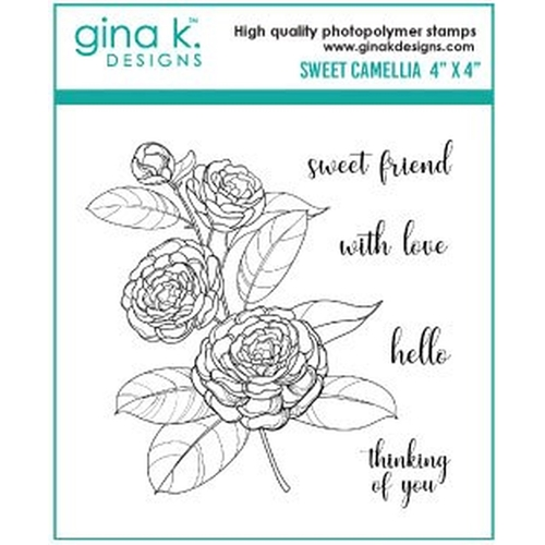 Gina K Designs SWEET CAMELLIA Clear Stamps 333 Preview Image