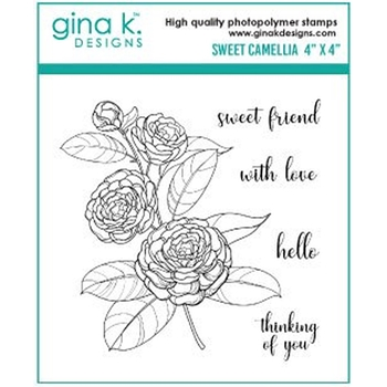 Gina K Designs SWEET CAMELLIA Clear Stamps 333