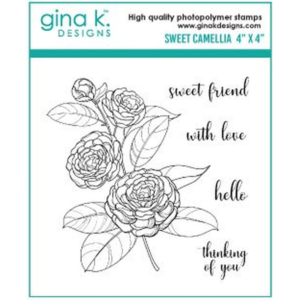 Gina K Designs SWEET CAMELLIA Clear Stamps 333 zoom image
