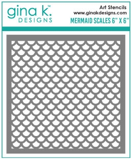 Gina K Designs MERMAID SCALES Stencil 992