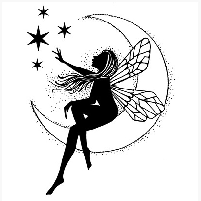 Lavinia Stamps MOON FAIRY Clear Stamp LAV041 zoom image