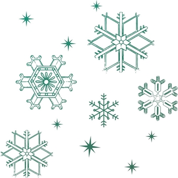 Couture Creations MINI SNOWFLAKES Clear Stamp Naughty Or Nice co726915
