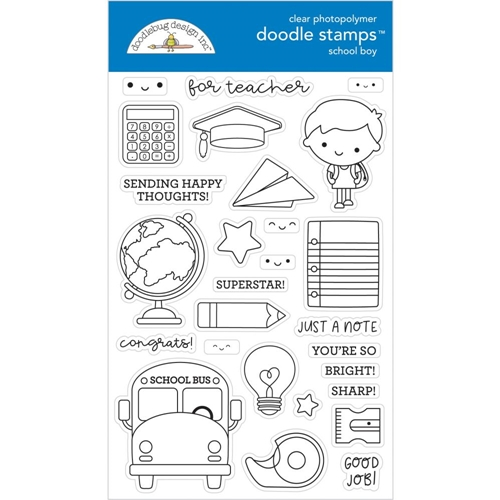 Doodlebug SCHOOL BOY Clear Stamps 6384 Preview Image