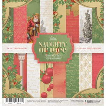 Couture Creations NAUGHTY OR NICE 6 x 6 Paper Pad co726890