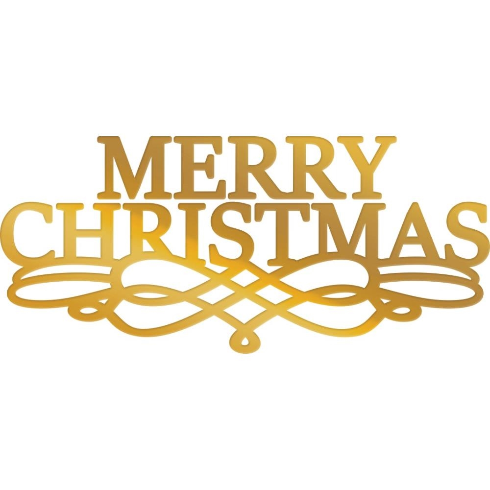 Couture Creations MERRY CHRISTMAS SENTIMENT Hotfoil Plate co726919 zoom image