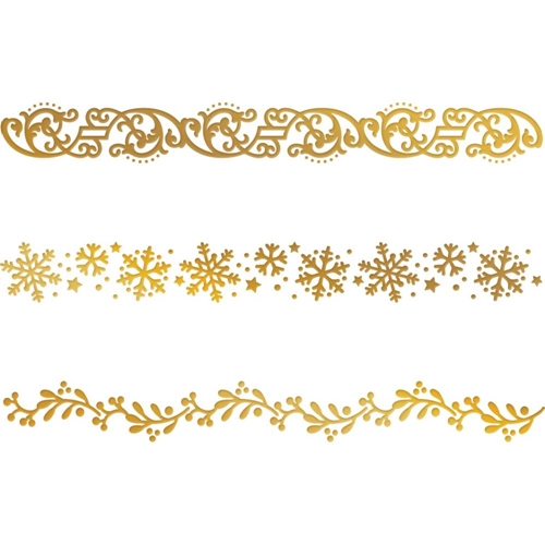 Couture Creations CHRISTMAS BORDERS Hotfoil Plate co726923* Preview Image