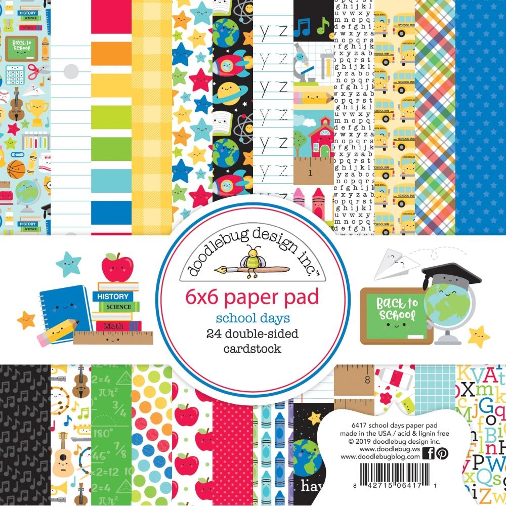 Doodlebug SCHOOL DAYS 6x6 Inch Paper Pad 6417 zoom image