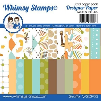 Whimsy Stamps GIRAFFE 6 x 6 Paper Pads WSDP05