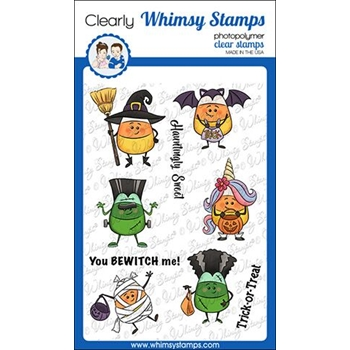 Whimsy Stamps CANDY CORN DRESS UP Clear Stamps KHB134