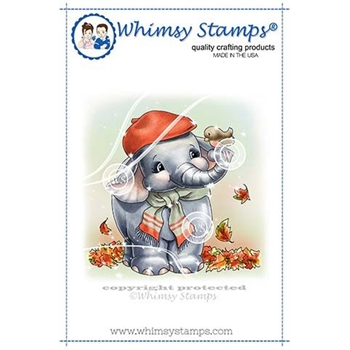 Whimsy Stamps ELLIES AUTUMN DAY Rubber Cling Stamp C1342