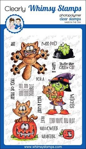 Whimsy Stamps GOING CATTY Clear Stamps DP1021 Preview Image