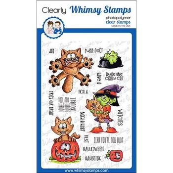 Whimsy Stamps GOING CATTY Clear Stamps DP1021