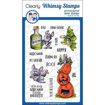 Whimsy Stamps GOING BATTY Clear Stamps DP1020