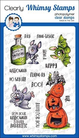 Whimsy Stamps GOING BATTY Clear Stamps DP1020 zoom image