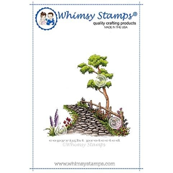 Whimsy Stamps STONE PATH Rubber Cling Stamp DP1121