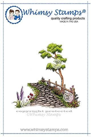 Whimsy Stamps STONE PATH Rubber Cling Stamp DP1121 zoom image