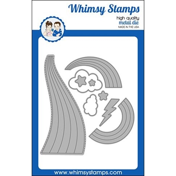 Whimsy Stamps ARRAY OF RAINBOWS Die WSD413