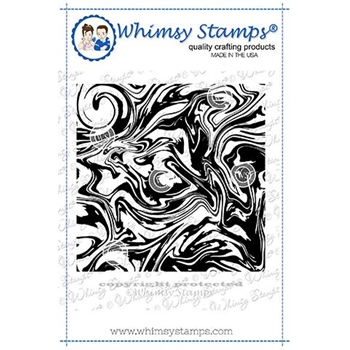 Whimsy Stamps MARBLE Background Cling Stamp DDB0029