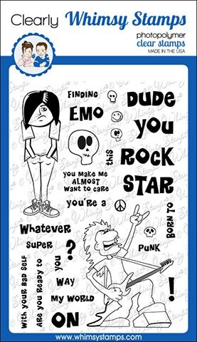 Whimsy Stamps GOTH STARS Clear Stamps CWSD281 Preview Image