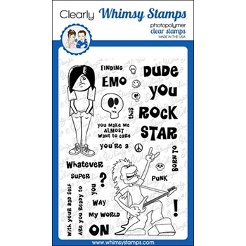 Whimsy Stamps GOTH STARS Clear Stamps CWSD281