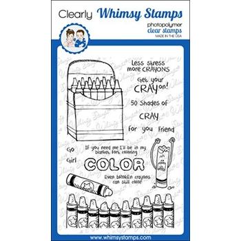 Whimsy Stamps CRAYONS Clear Stamps CWSD255