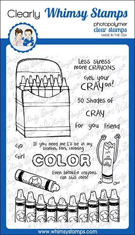 Whimsy Stamps CRAYONS Clear Stamps CWSD255 zoom image