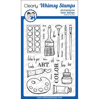 Whimsy Stamps ARTIST TOOLKIT Clear Stamps CWSD254