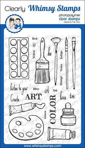 Whimsy Stamps ARTIST TOOLKIT Clear Stamps CWSD254 zoom image